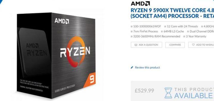 Quelques sites européens affichent déjà les prix possibles des AMD 5000X et ils sont bien plus chers que les AMD 3000X. L'upgrade vaudra-t-elle le coup ?