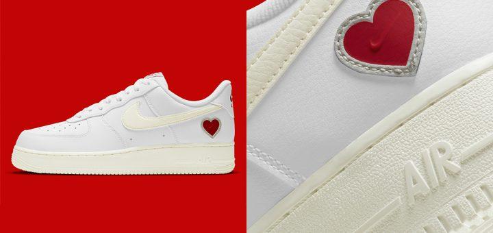 air force 1 coeur rouge